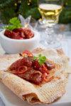 Korianderstekte kamskjell med søtpotetpurè og korianderolje