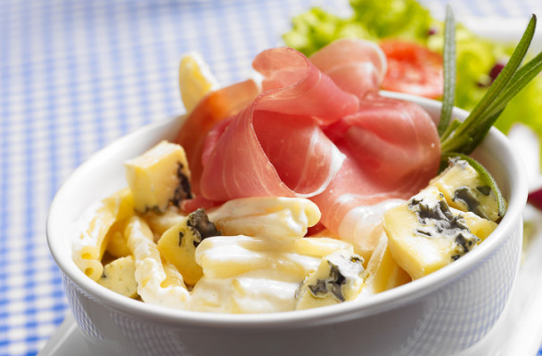 skinke-pasta