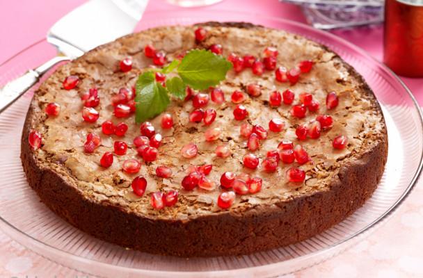 sjokoladekake-granateple
