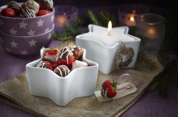 Sjokolade-jordbær-konfekt