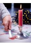 Perfekt juleribbe med medisterkaker, rødkål, surkål og brun saus