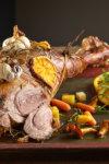 Brassert lammeskank med potet og gulrotpure