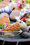 Salat med lettsaltet kylling, brie og pekannøtter