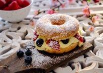 Donuts med vaniljekrem