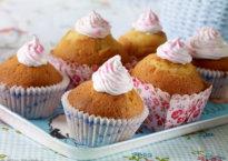 muffins med vanilje og krem