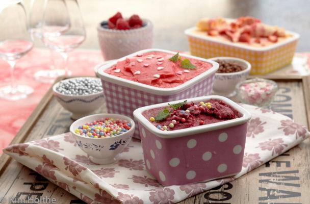 Mange forskjellige hjemmelagde iskrem