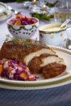 Viltgryte med kantareller og potetpuré