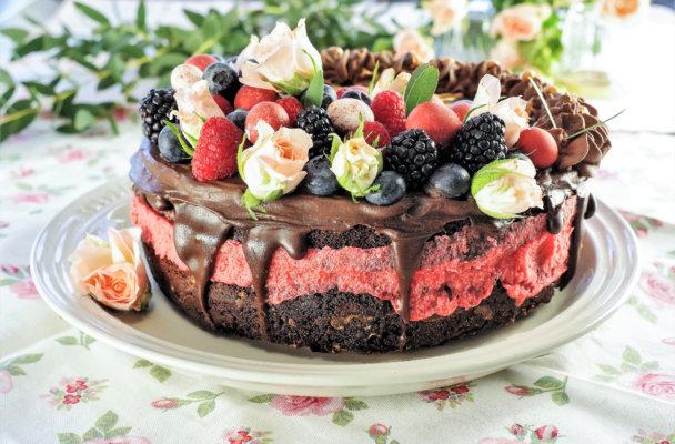 Sjokoladekake med brigebær