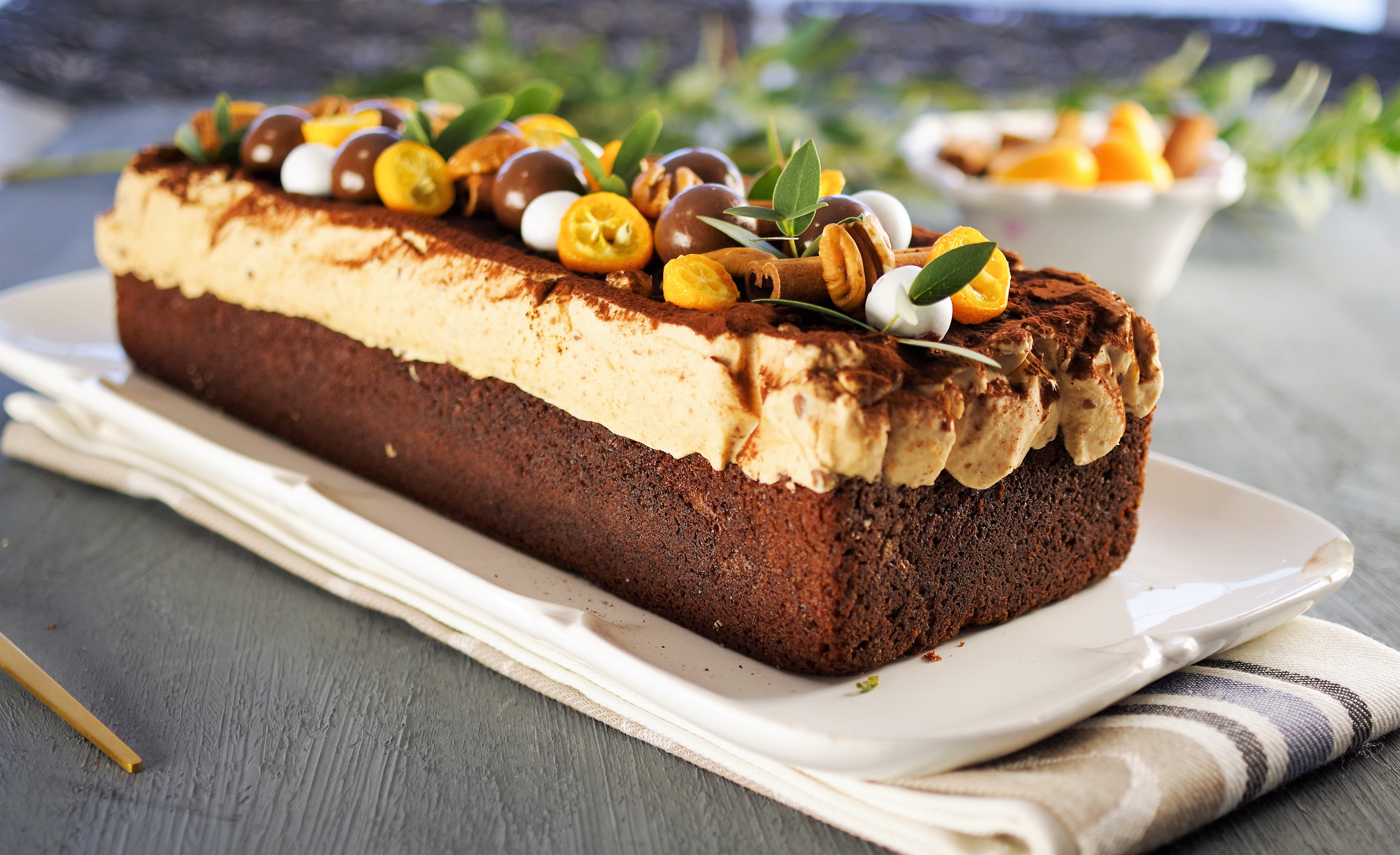 Sjokoladekake med nougatkrem