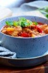 Suppegjøk med hot tomatsuppe