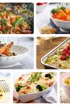 Kyllingfilet med urtesmør, plommer og eplesirupsaus