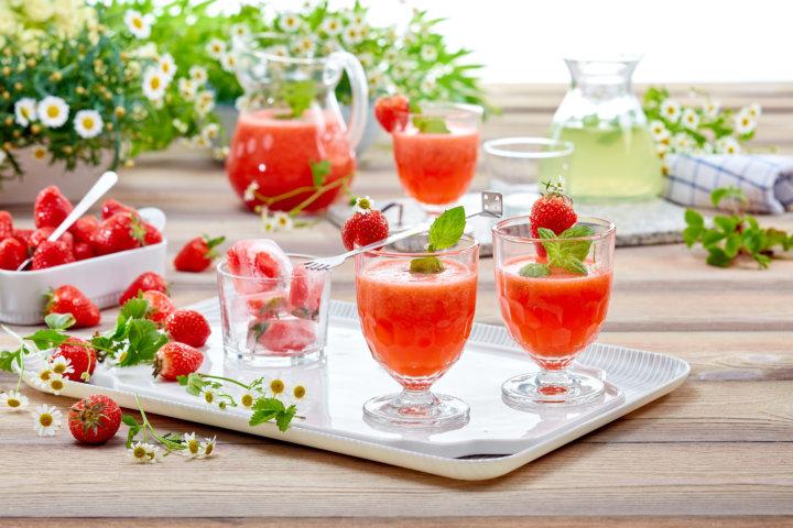 jordbærlimonade