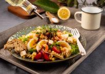krepsehalepastasalat er en sunn og god salat.